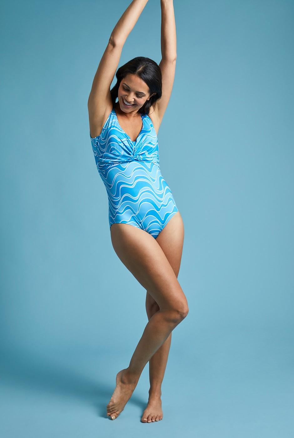 Fonda Swimming Costume Turquoise