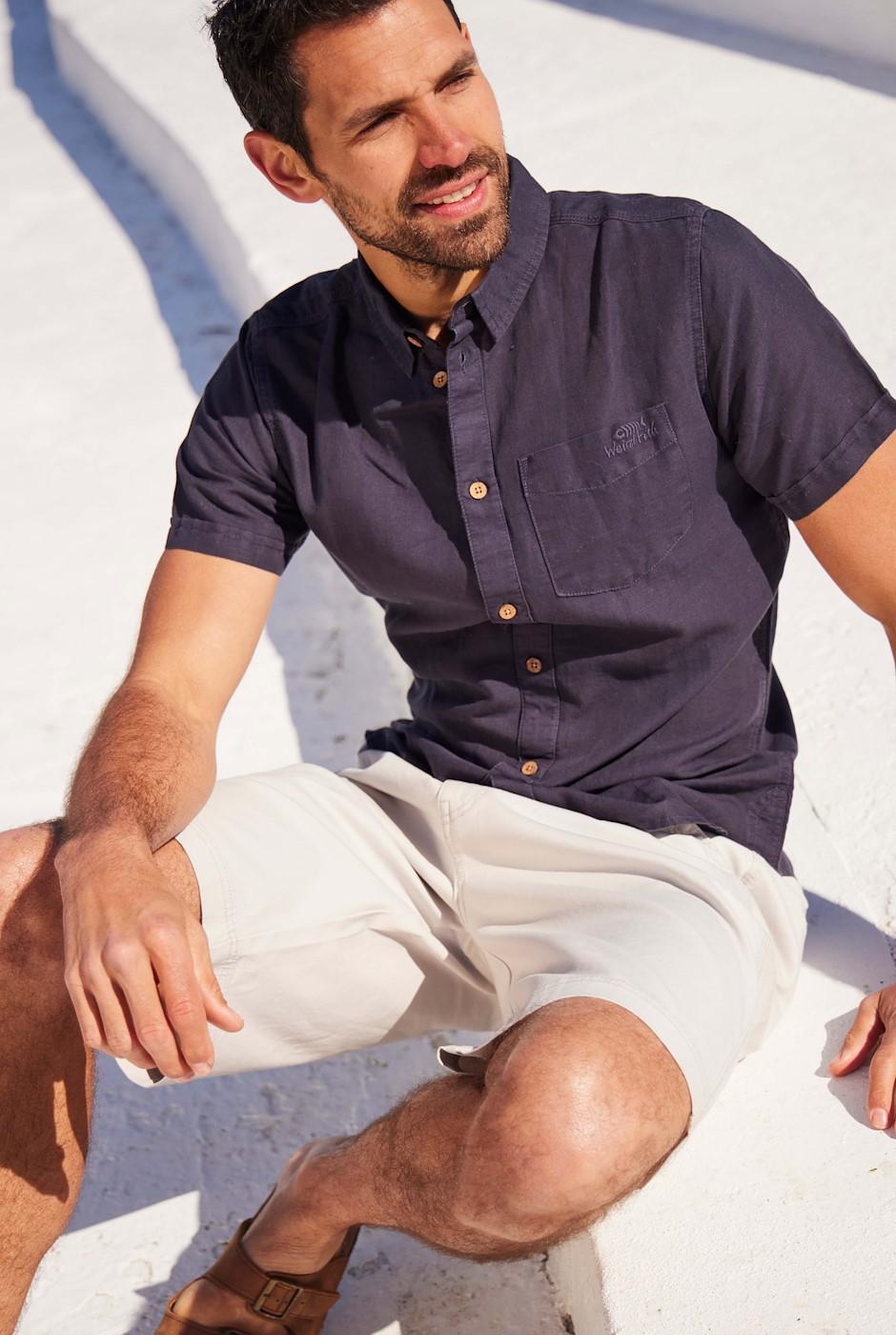 Westray Linen Shirt Navy