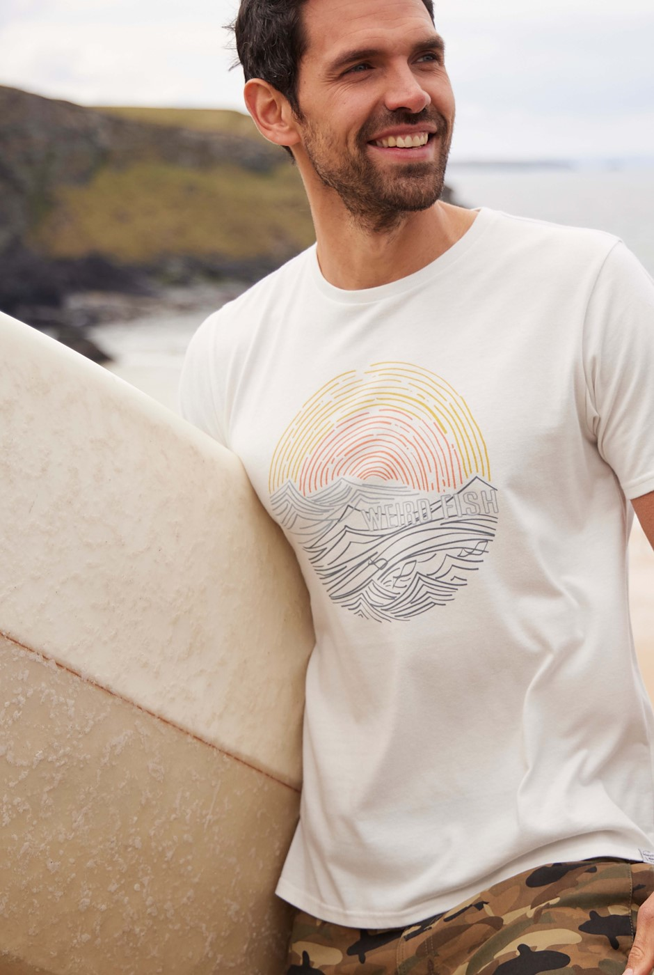Ocean Eco Cotton Graphic T-Shirt Dusty White