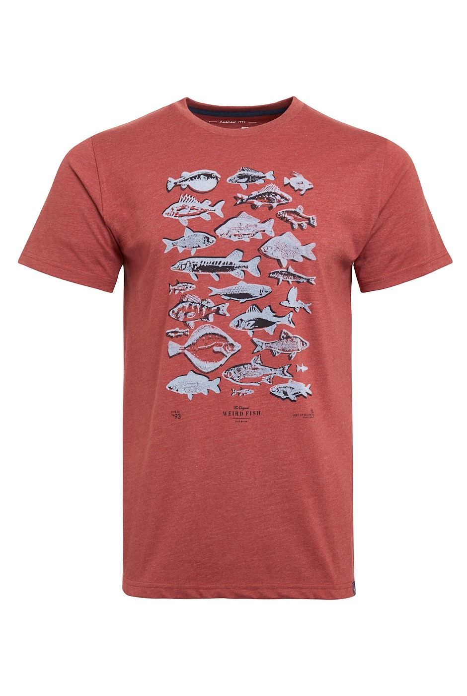 Fish Fest Eco Branded Graphic T-Shirt Brick Red