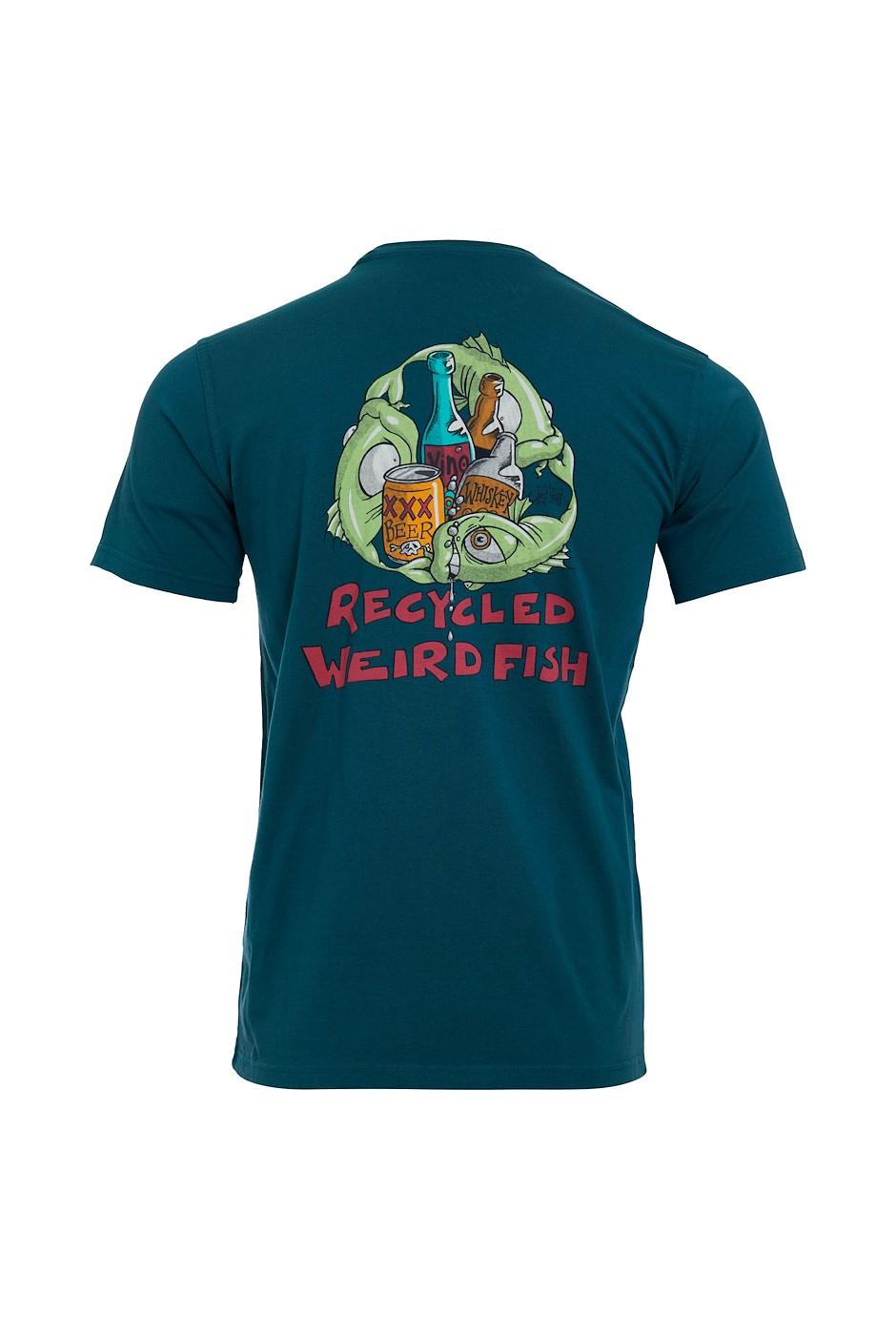 Weird Recycling Organic Cotton Artist T-Shirt Petrol Blue