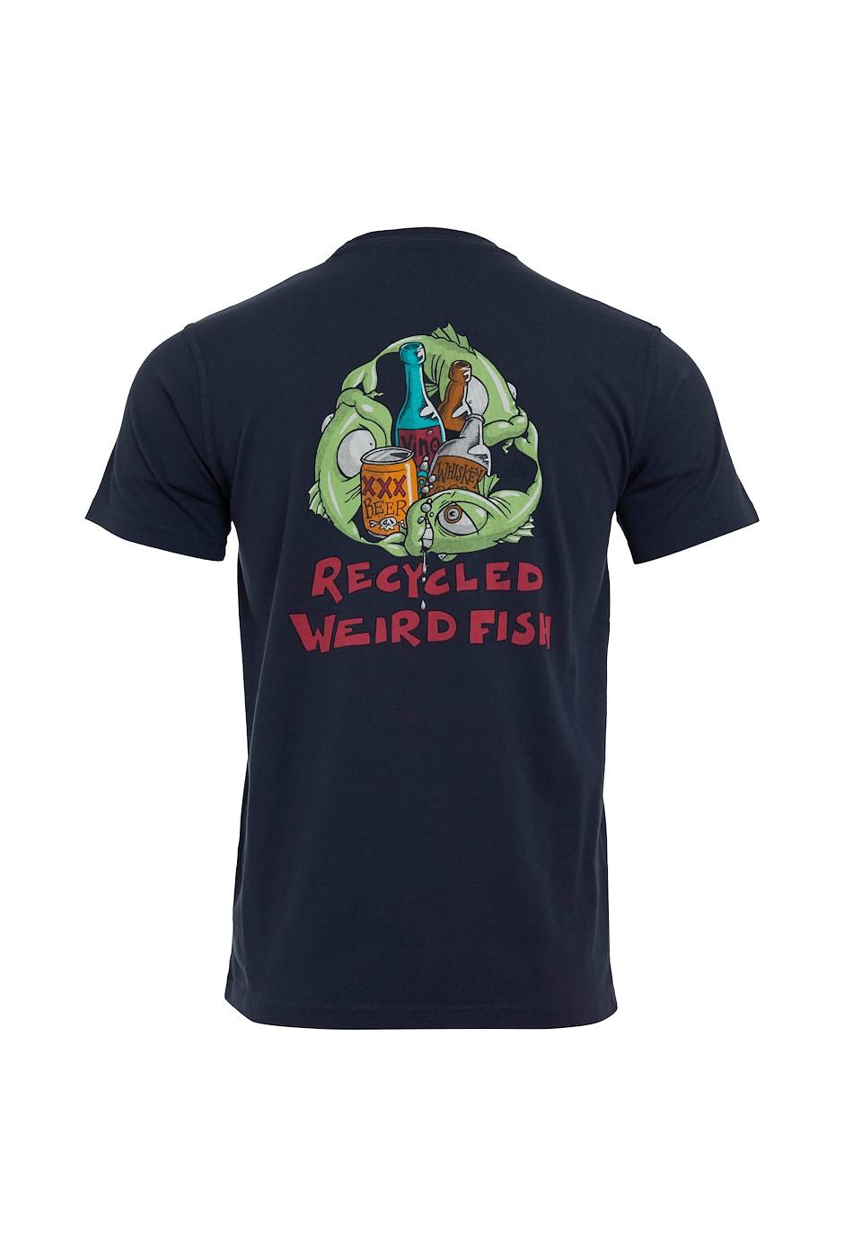 Weird Recycling Organic Cotton Artist T-Shirt Navy