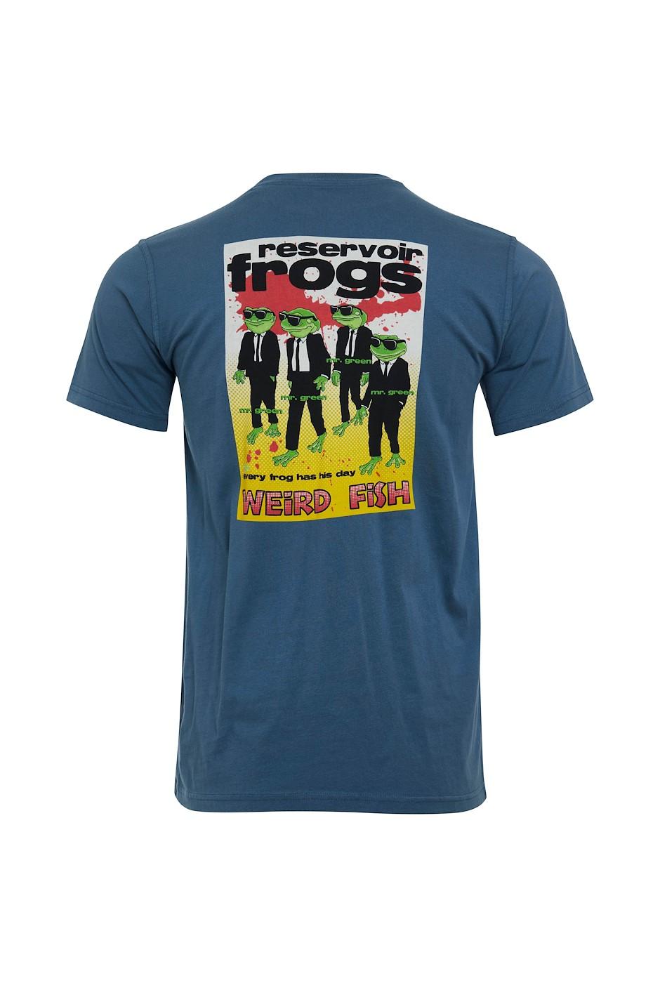 Reservoir Frogs Organic Cotton Artist T-Shirt Blue Mirage