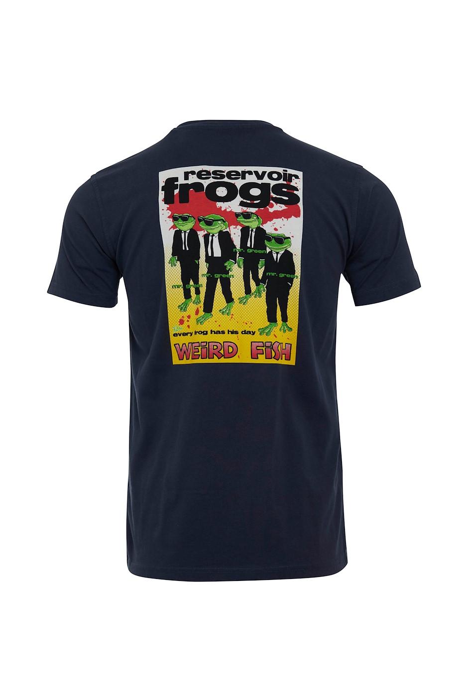 Reservoir Frogs Organic Cotton Artist T-Shirt Navy