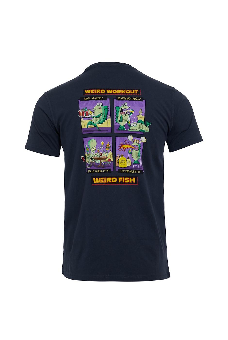 Weird Workout Organic Cotton Artist T-Shirt Navy