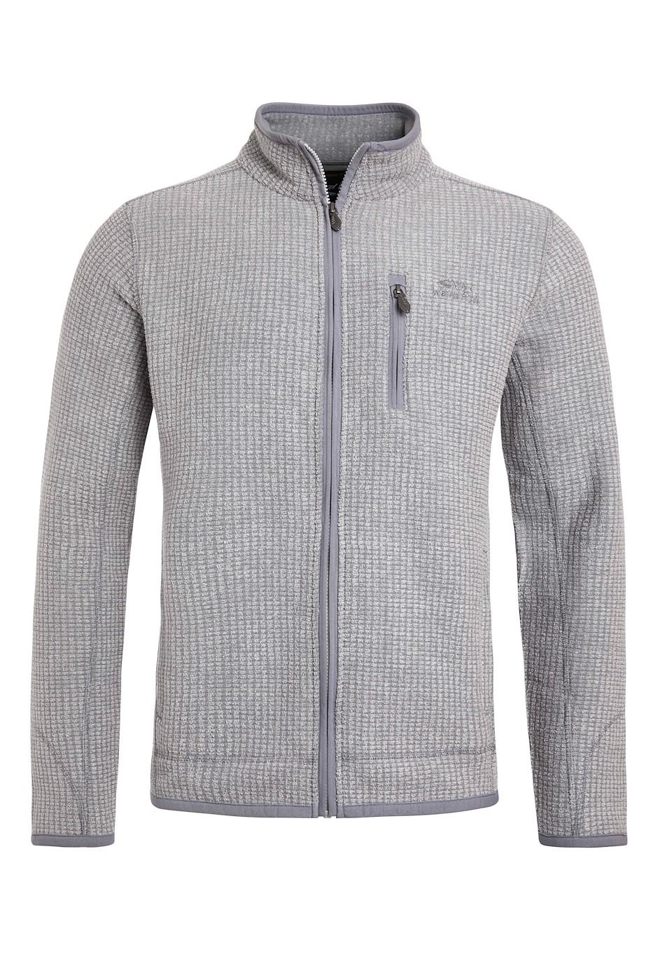 Rossten Full Zip Grid Fleece Tall Frost Grey