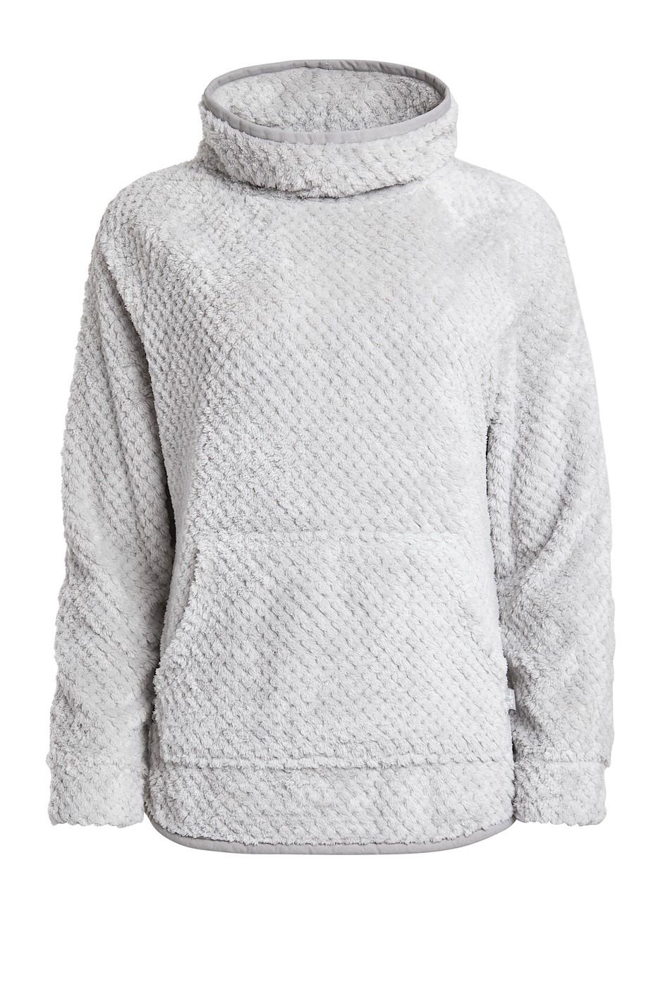 Stella Honeycomb Fur Fleece Pearl Grey