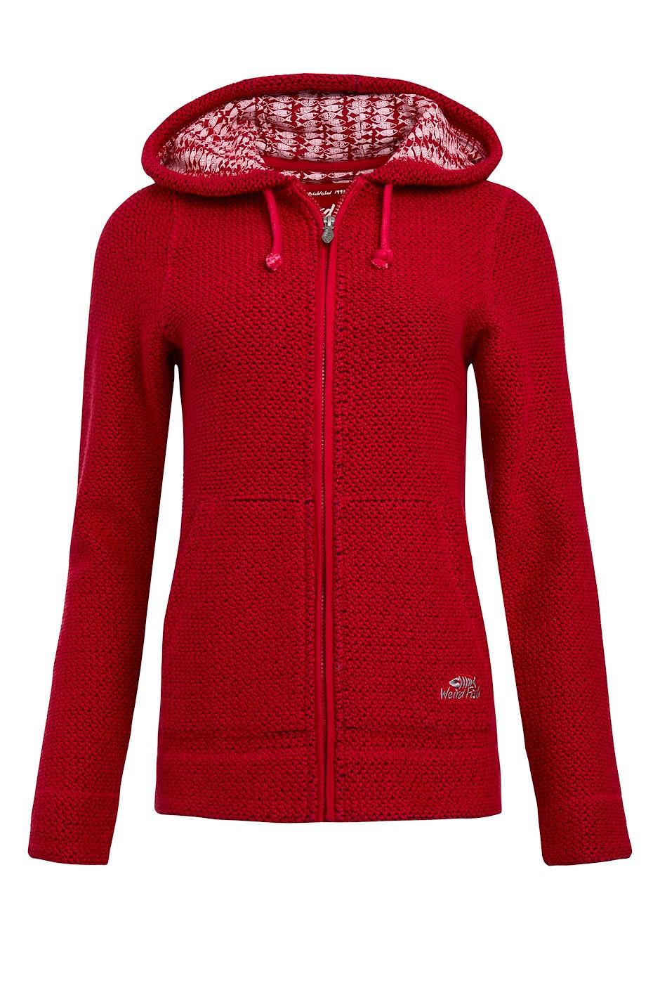 Weylin Full Zip Eco Macaroni Hoodie Crimson