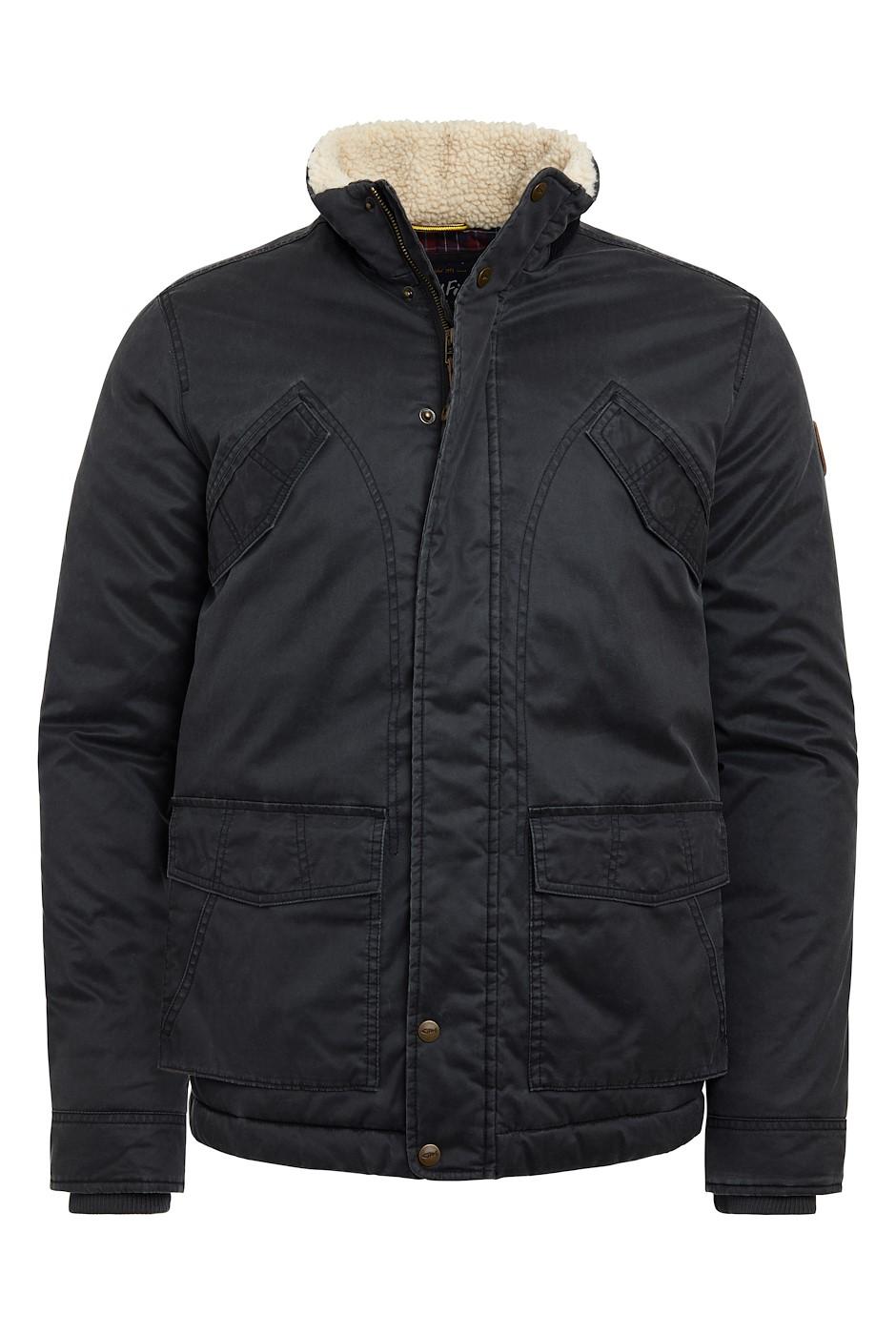 Seabrook Pigment Printed Wadded Jacket Washed Black