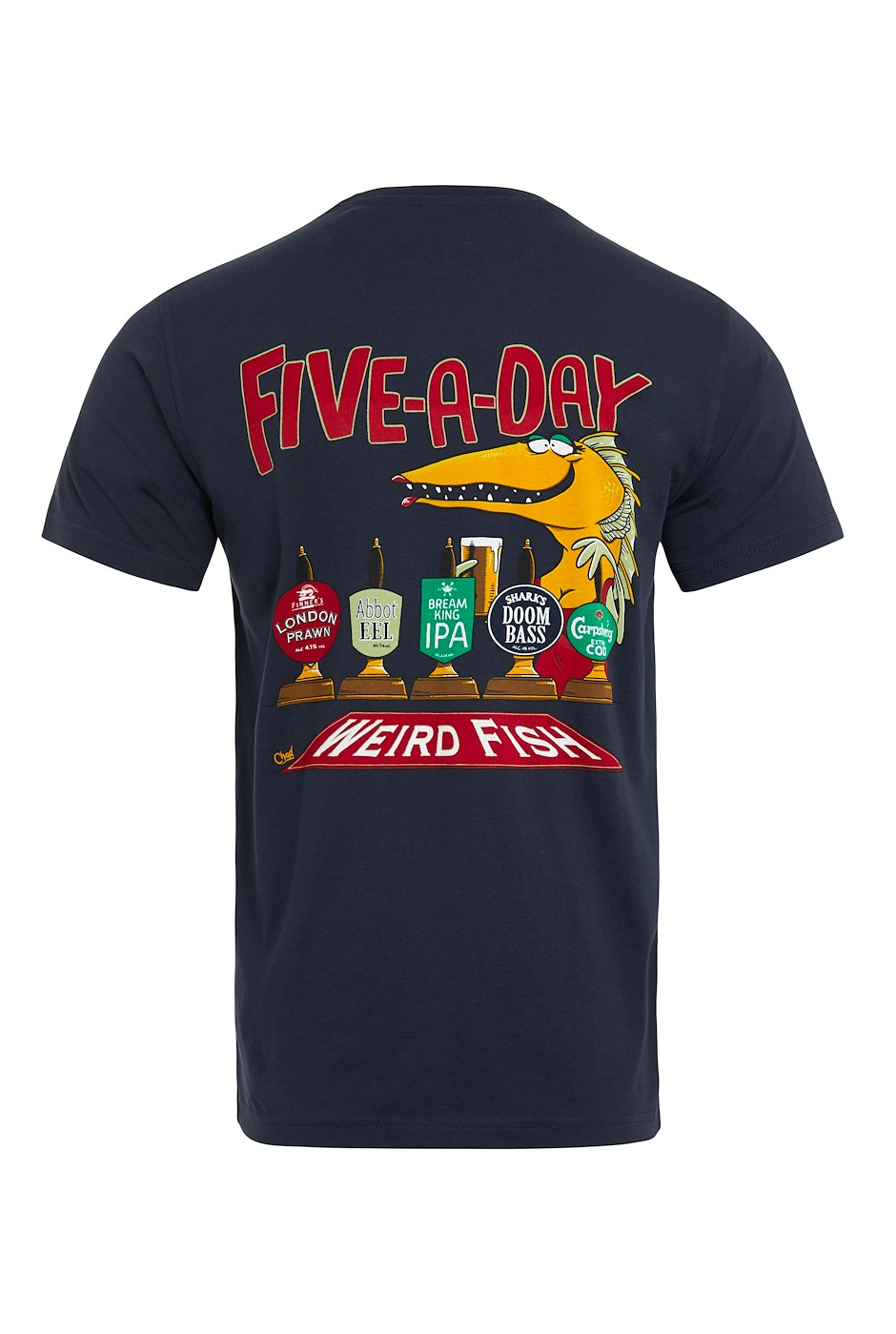 Five A Day Tall Organic Artist T-Shirt Navy