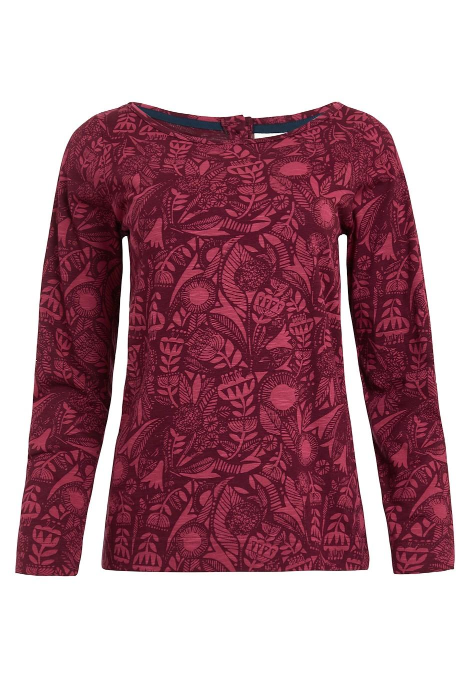 Tupelo Organic Cotton Long Sleeve T-Shirt Mulled Wine