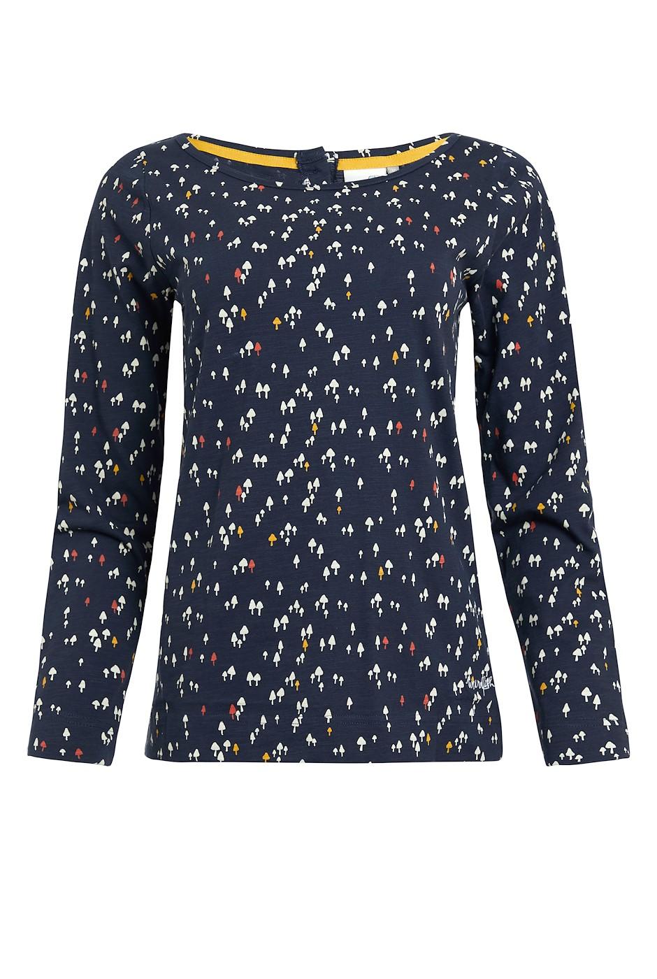 Tupelo Organic Cotton Long Sleeve T-Shirt Navy