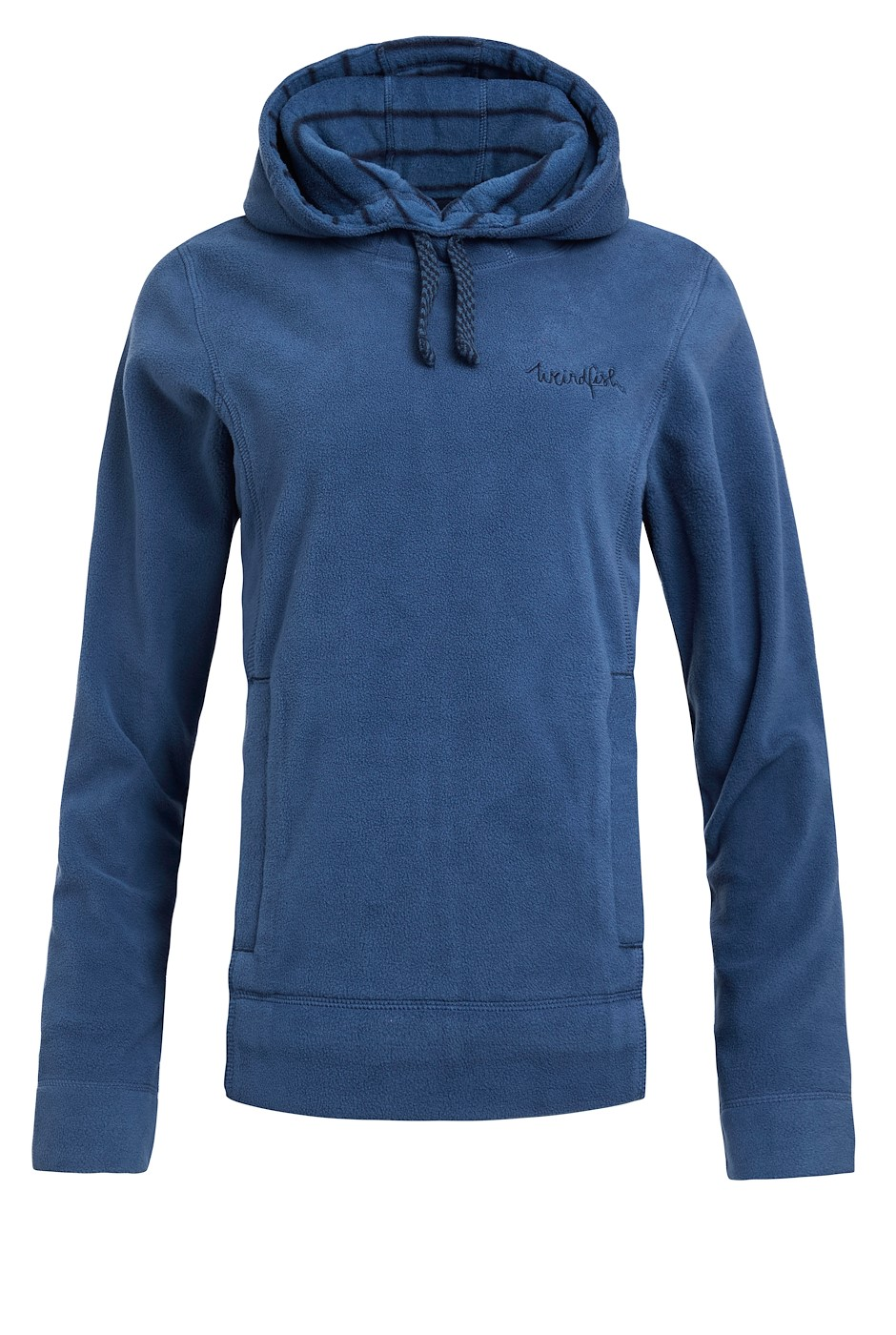 Durian Recycled Fleece Popover Hoodie Ensign Blue
