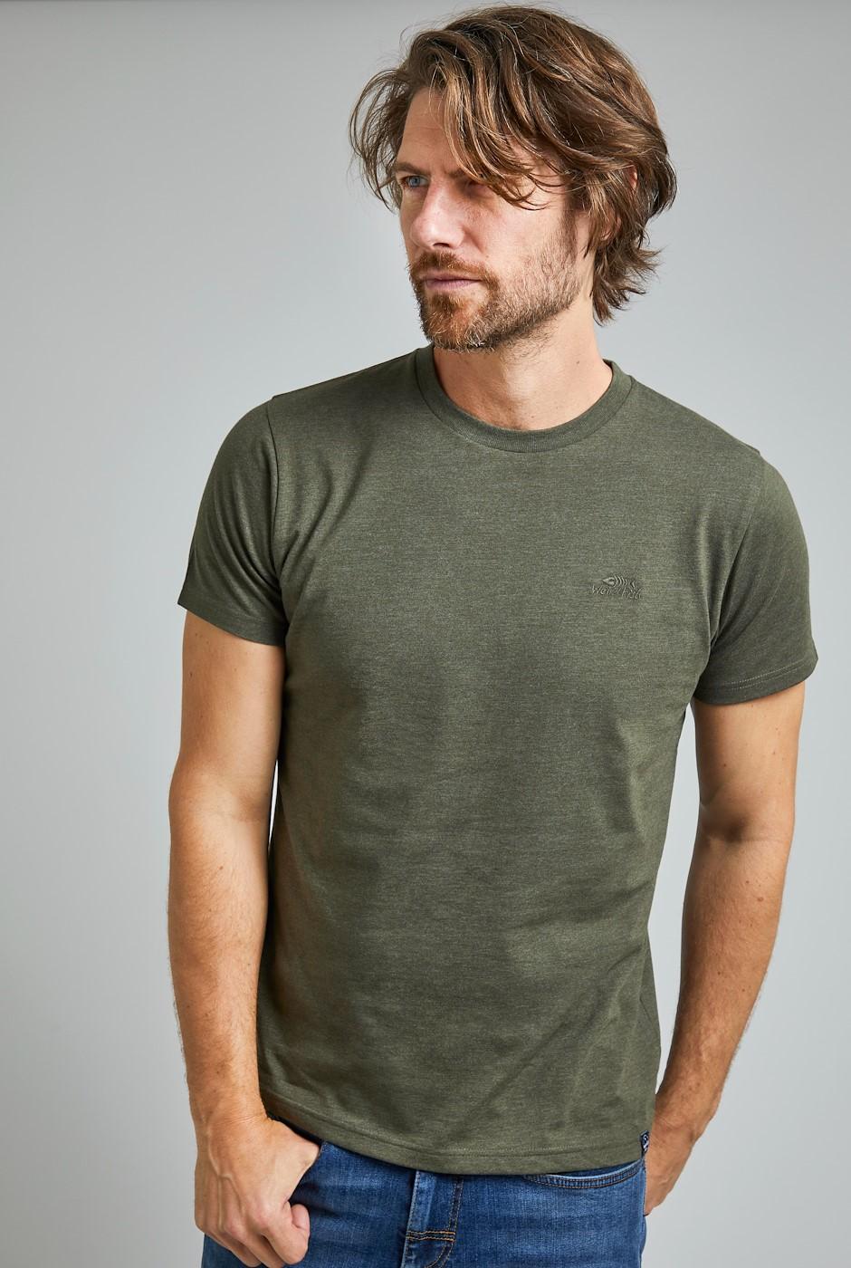 Fished Eco Branded T-Shirt Dark Olive