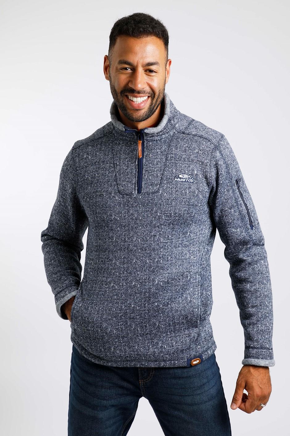 Beaufort 1/4 Zip Soft Knit Fleece Navy