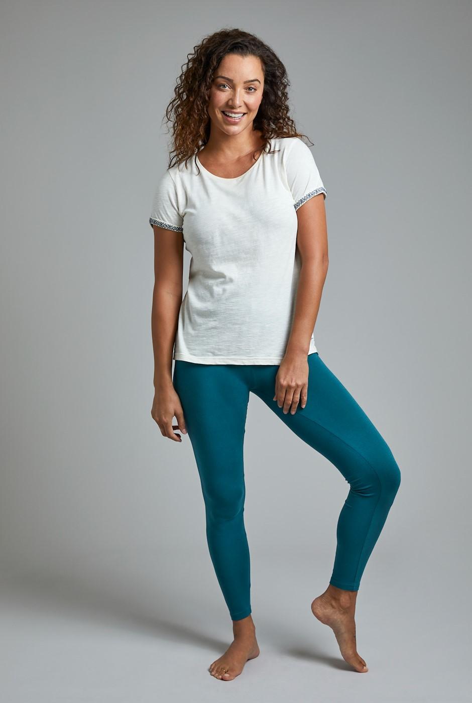 Louisa Stretch Leggings Petrol Blue