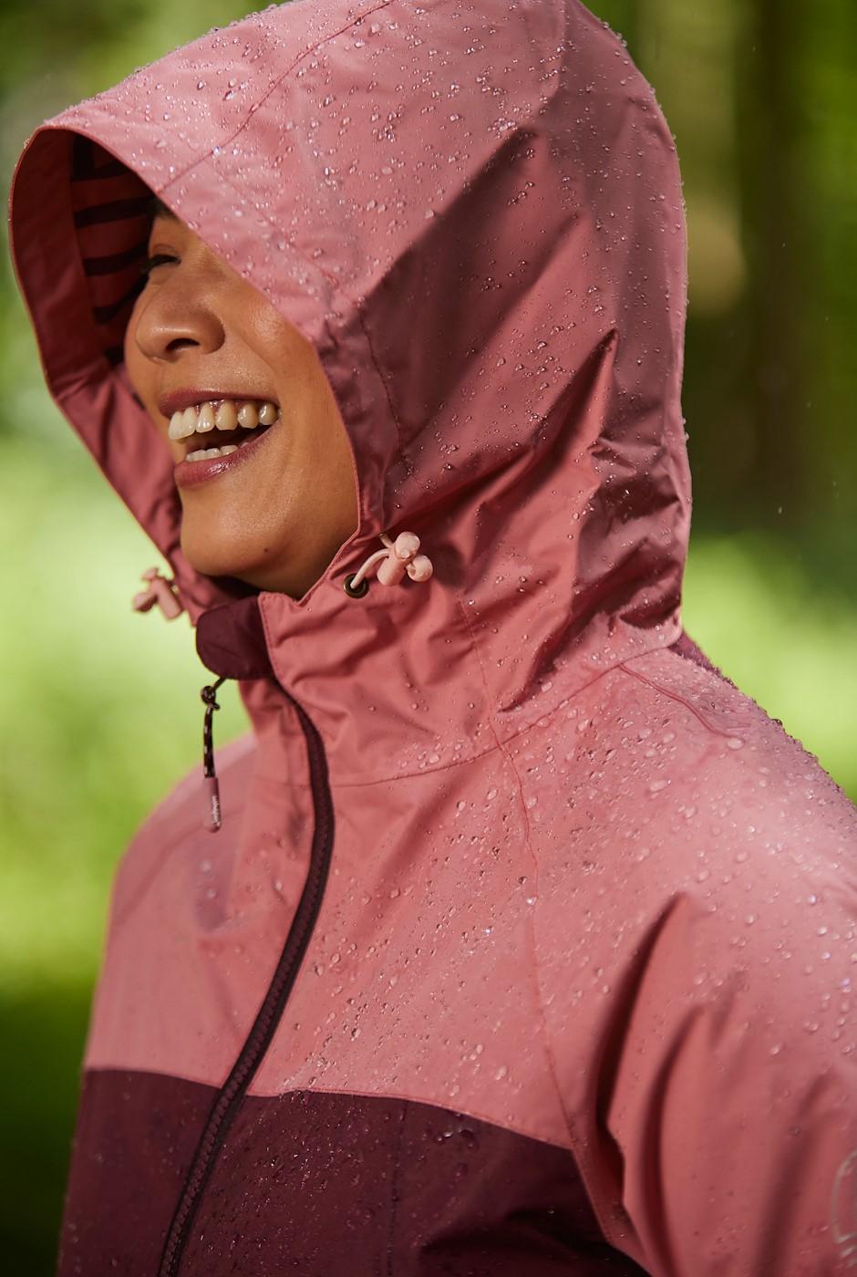 Camelia Waterproof Jacket Burgundy