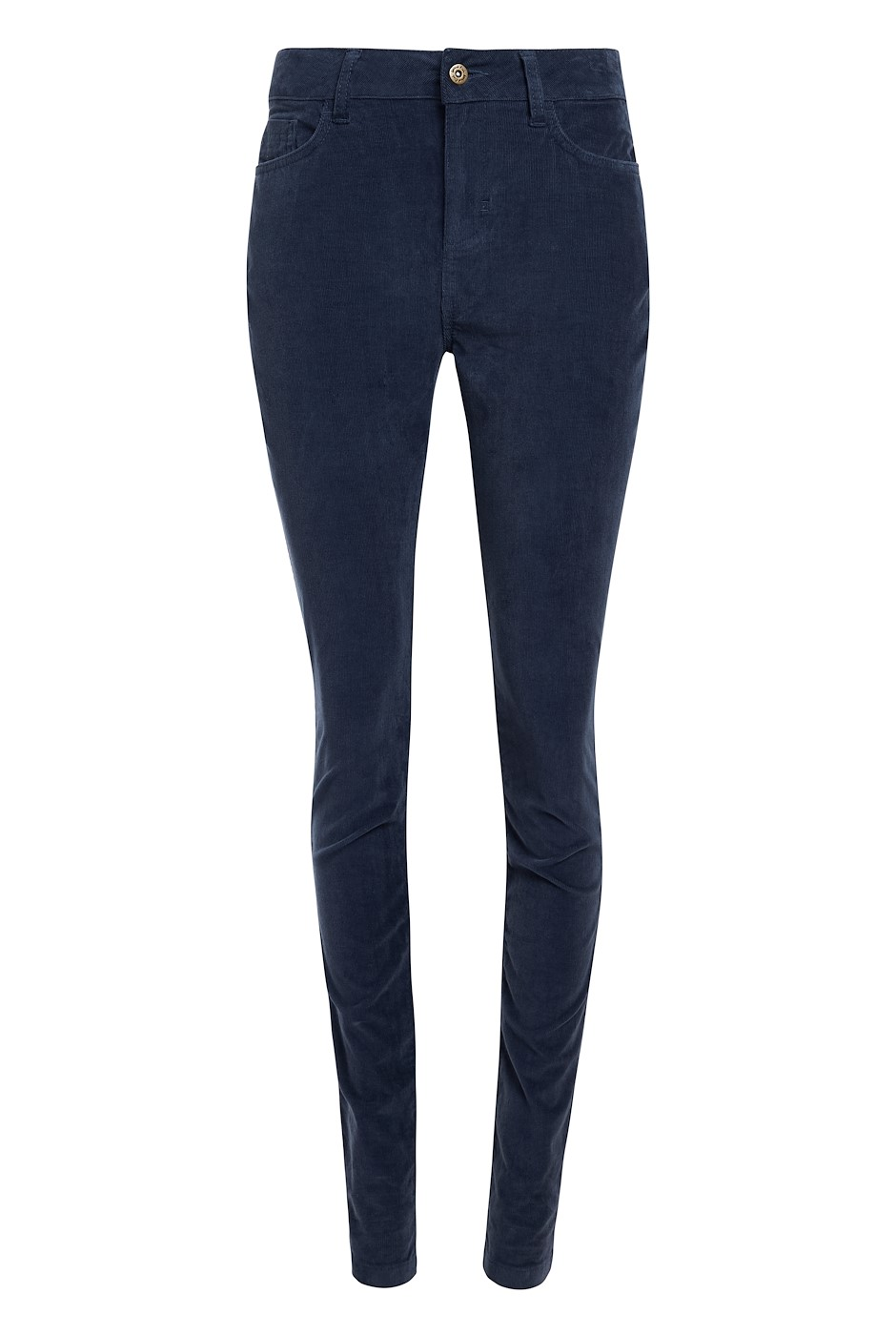 Destiny Cord Skinny Jeans Navy