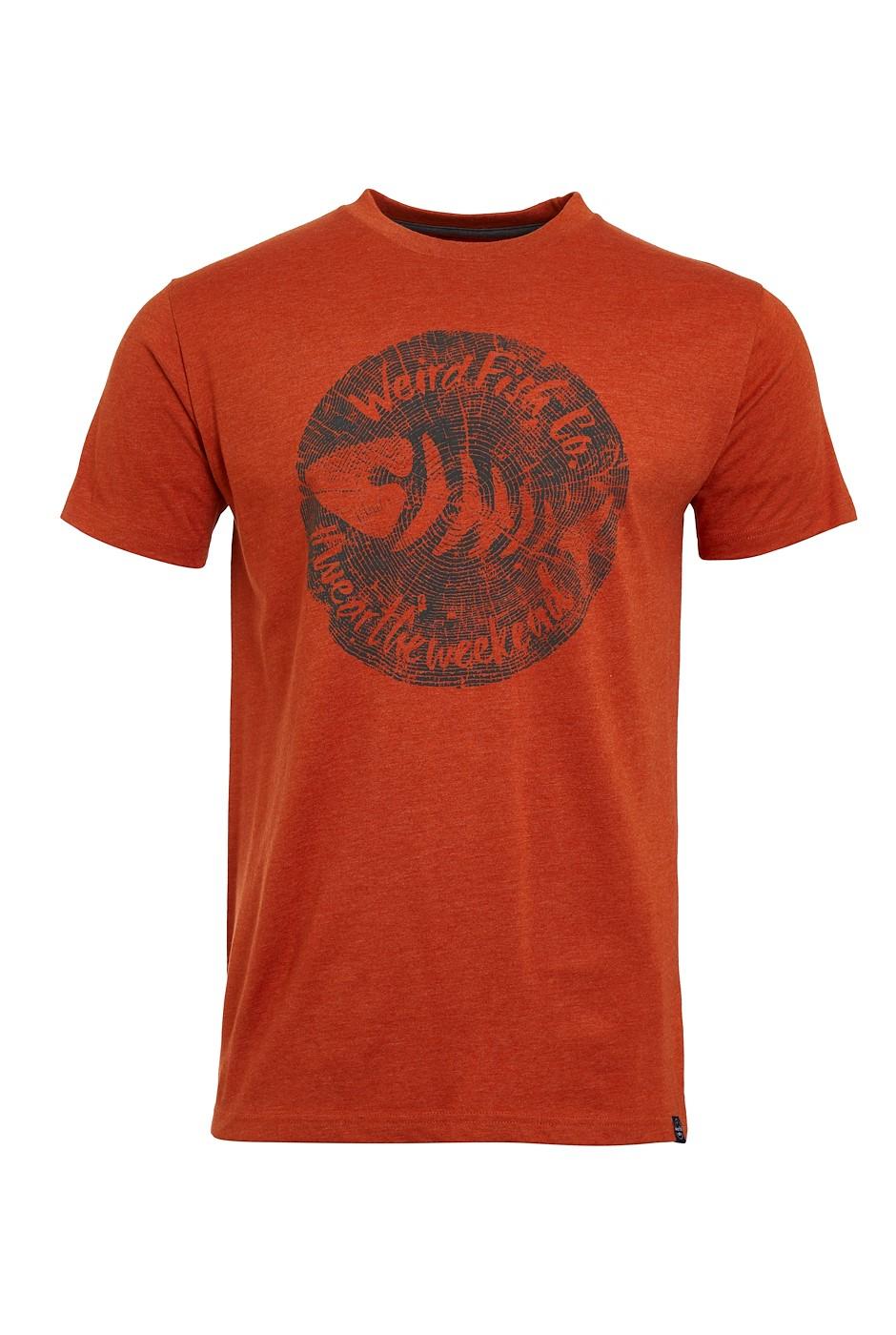 Woodcut Eco Graphic T-Shirt Rust