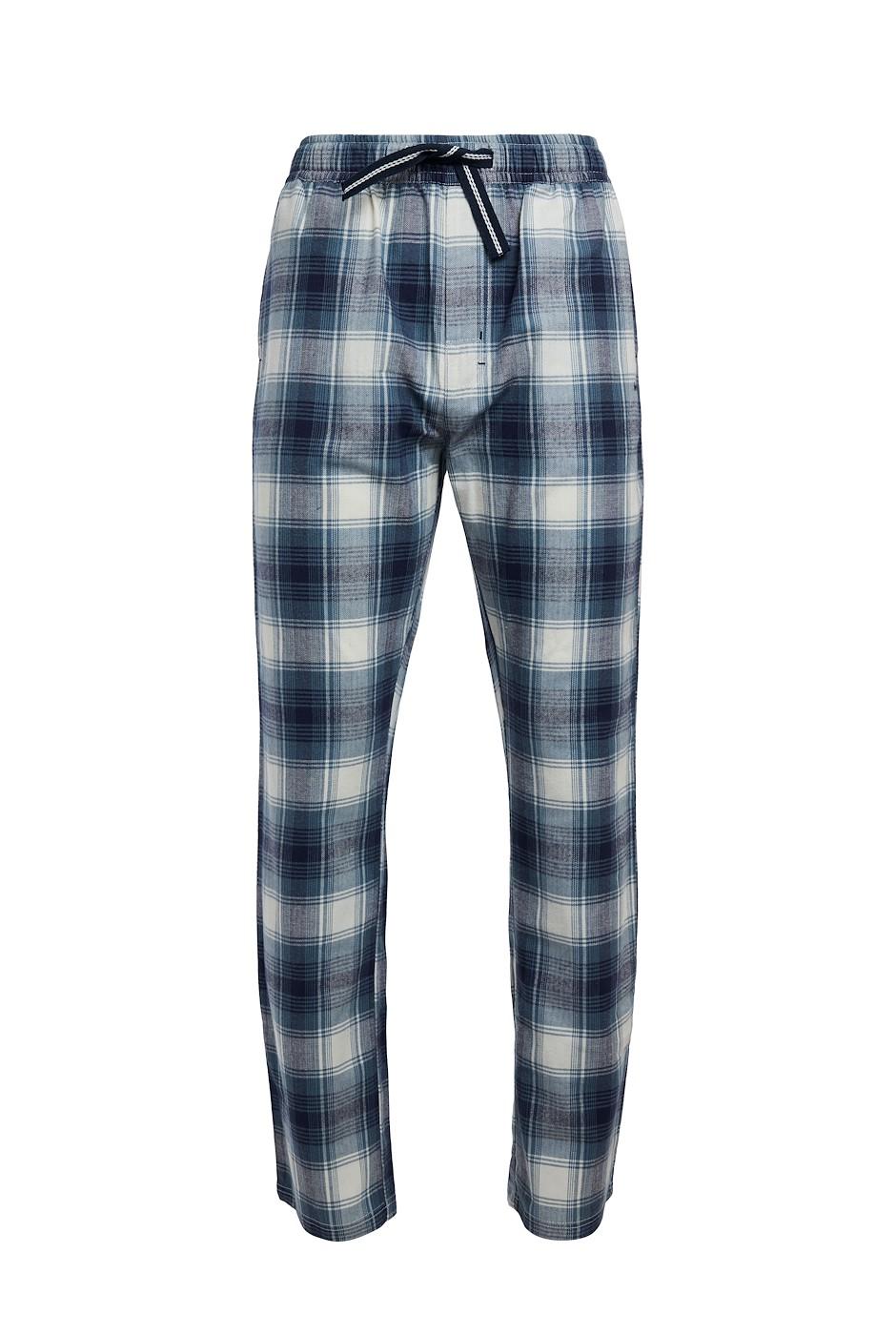 Gilmore Organic Woven Check Trouser Blue Mirage