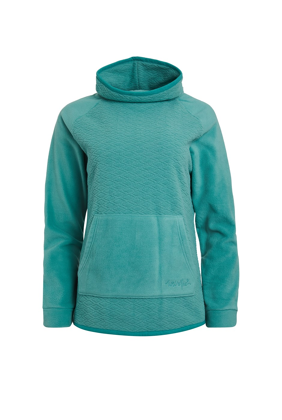 Sallca Recycled Polyester Micro Fleece Washed Teal