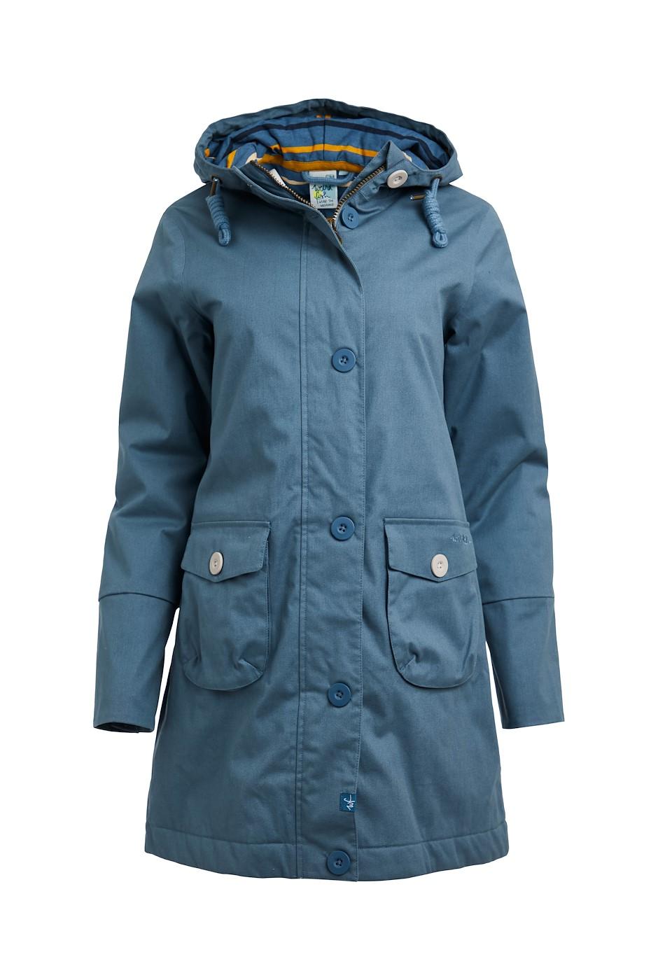 Beatrix Wadded Waterproof Coat Blue Mirage