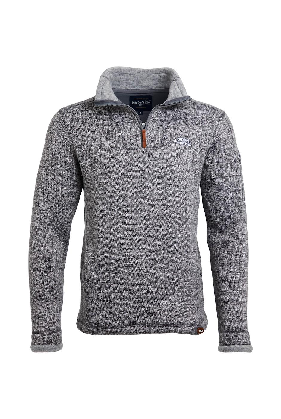 Beaufort 1/4 Zip Soft Knit Fleece Cement
