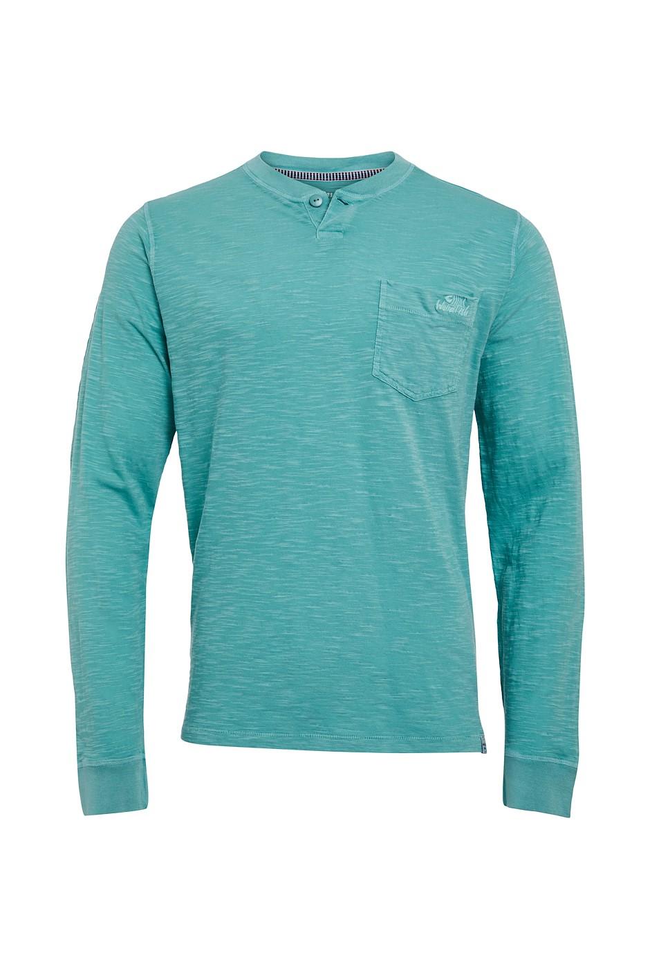 Walken Organic Cotton Henley T-Shirt Washed Teal