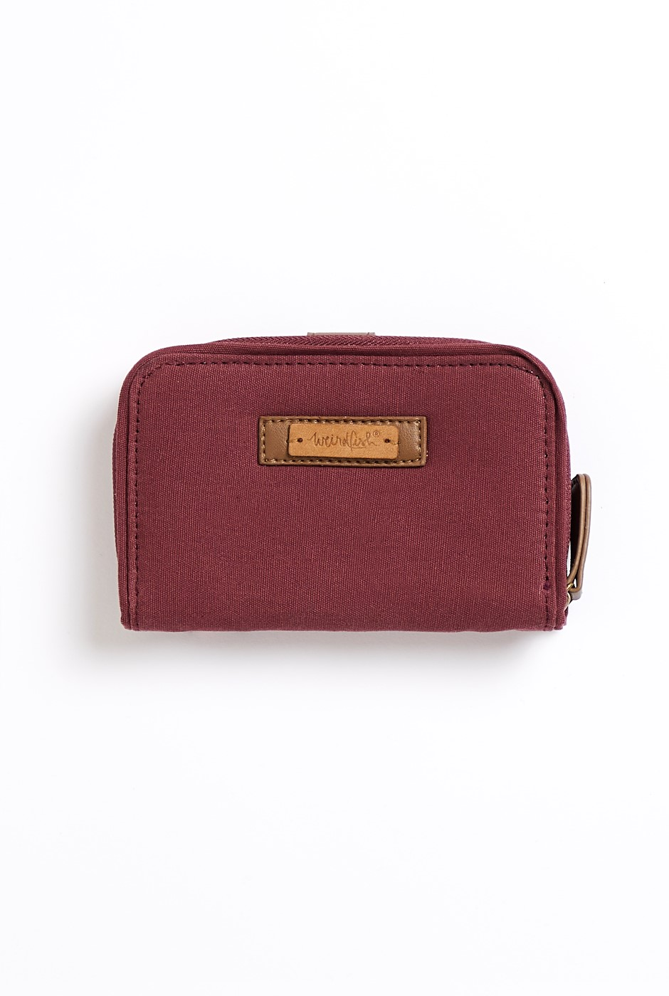 Canning Washed Canvas Purse Burgundy
