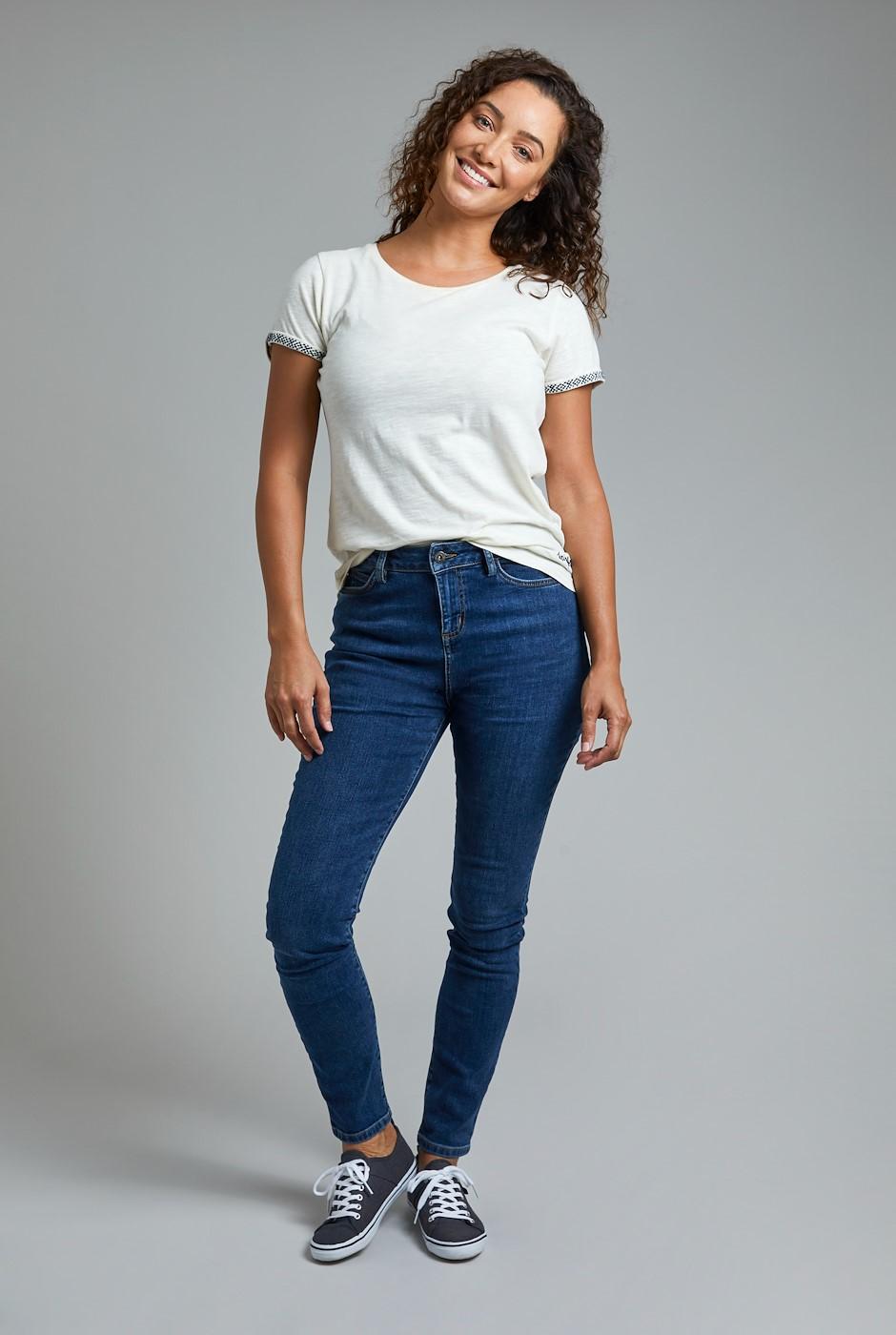 Rini Organic Slim Fit Denim Jeans Dark Denim