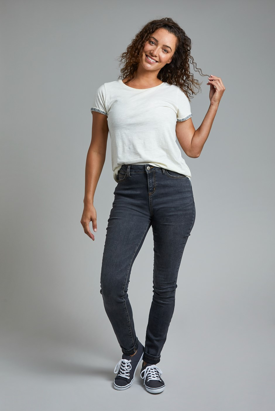 Rini Organic Slim Fit Denim Jeans Grey Wash