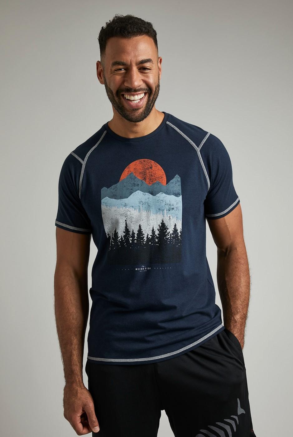 Pontus Bamboo Graphic T-Shirt Dark Navy