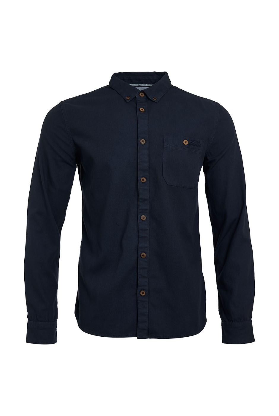 Stocker Long Sleeve Oxford Shirt Navy