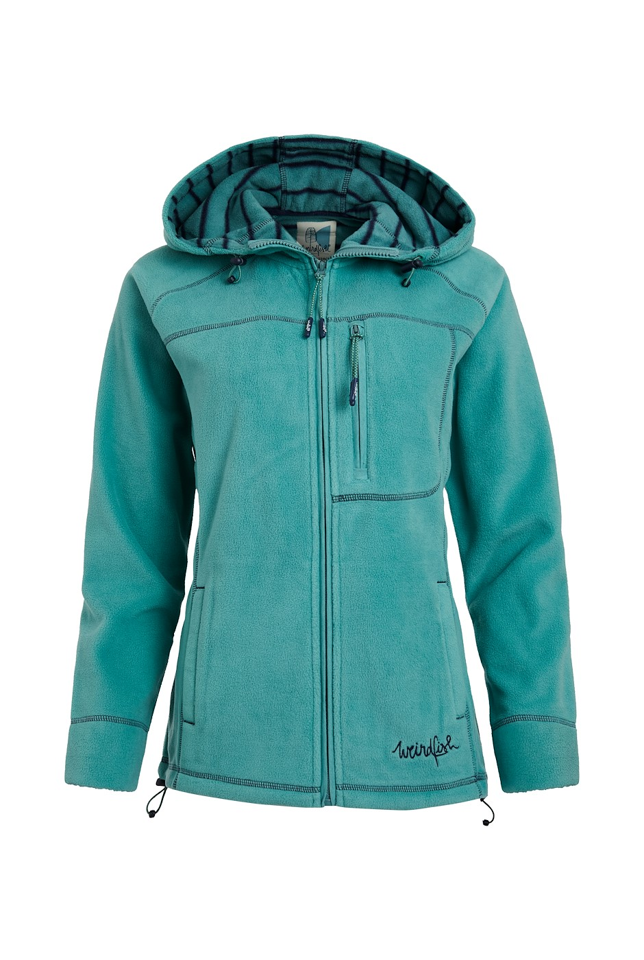 Callery Recycled Fleece Hoodie Washed Teal