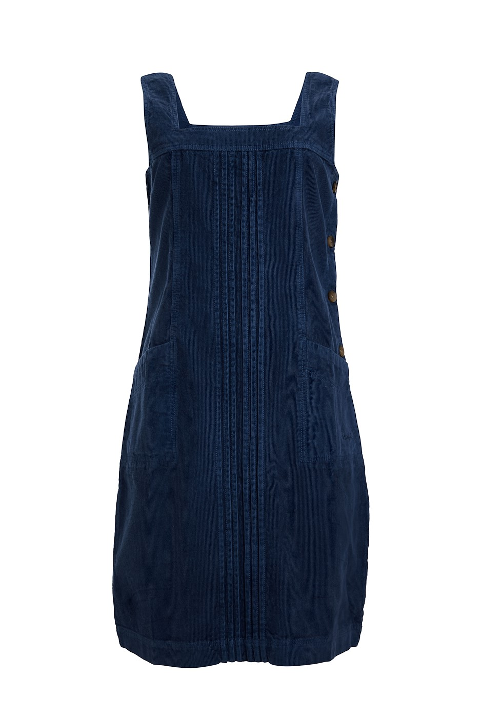 Elowen Cord Pinafore Dress Navy