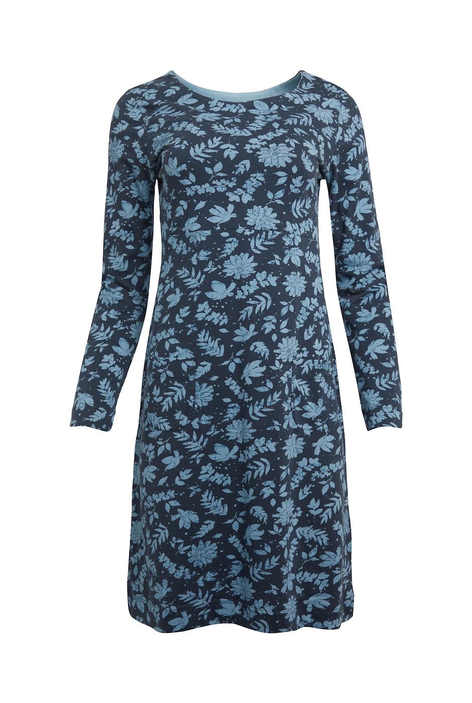 Delray Organic Cotton Jersey Dress Midnight