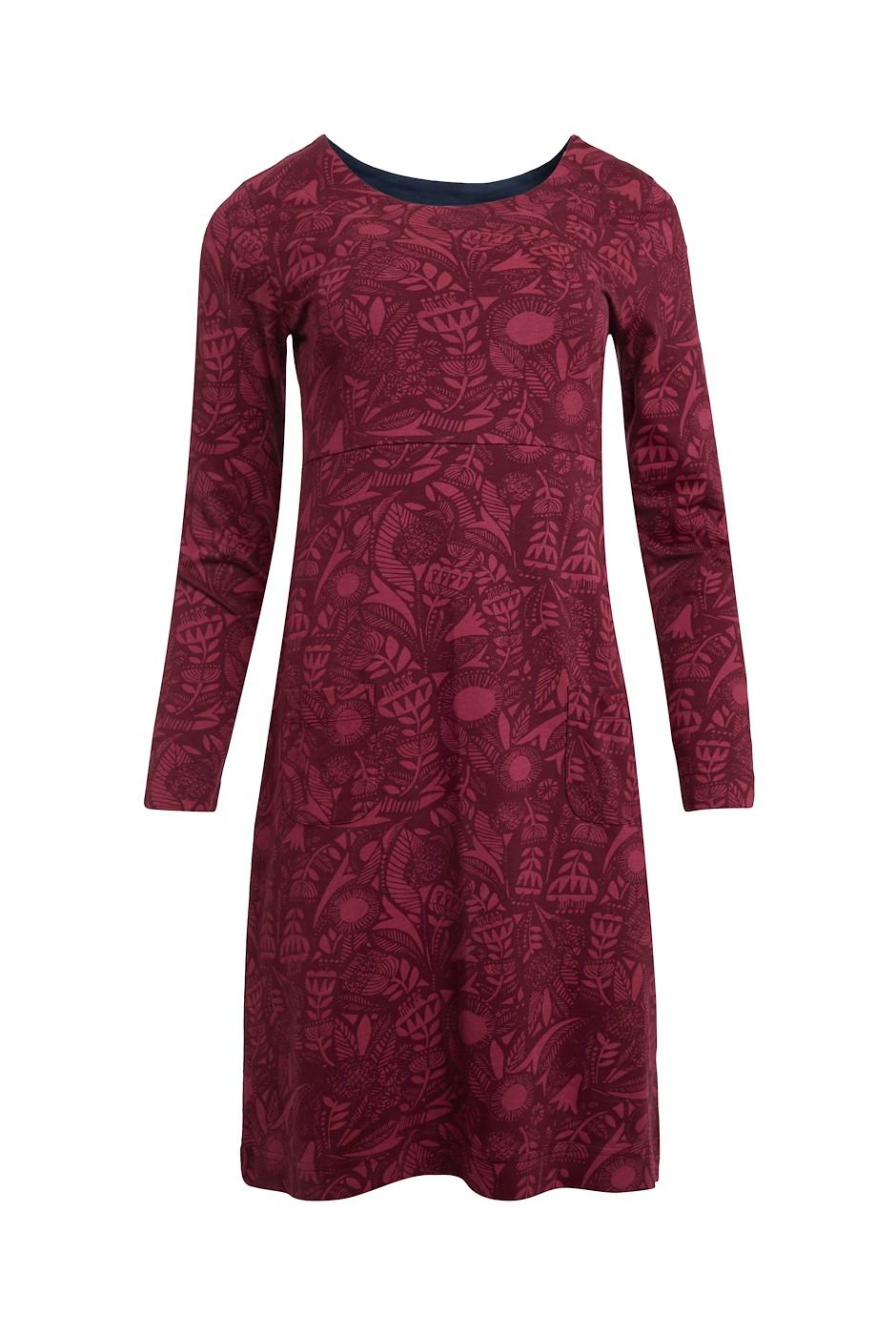 Delray Organic Cotton Jersey Dress Mulled Wine