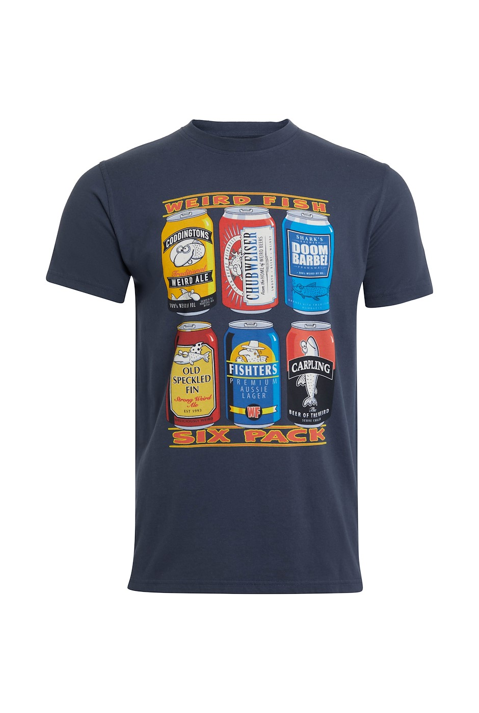 Six Pack Organic Cotton Artist T-Shirt Navy