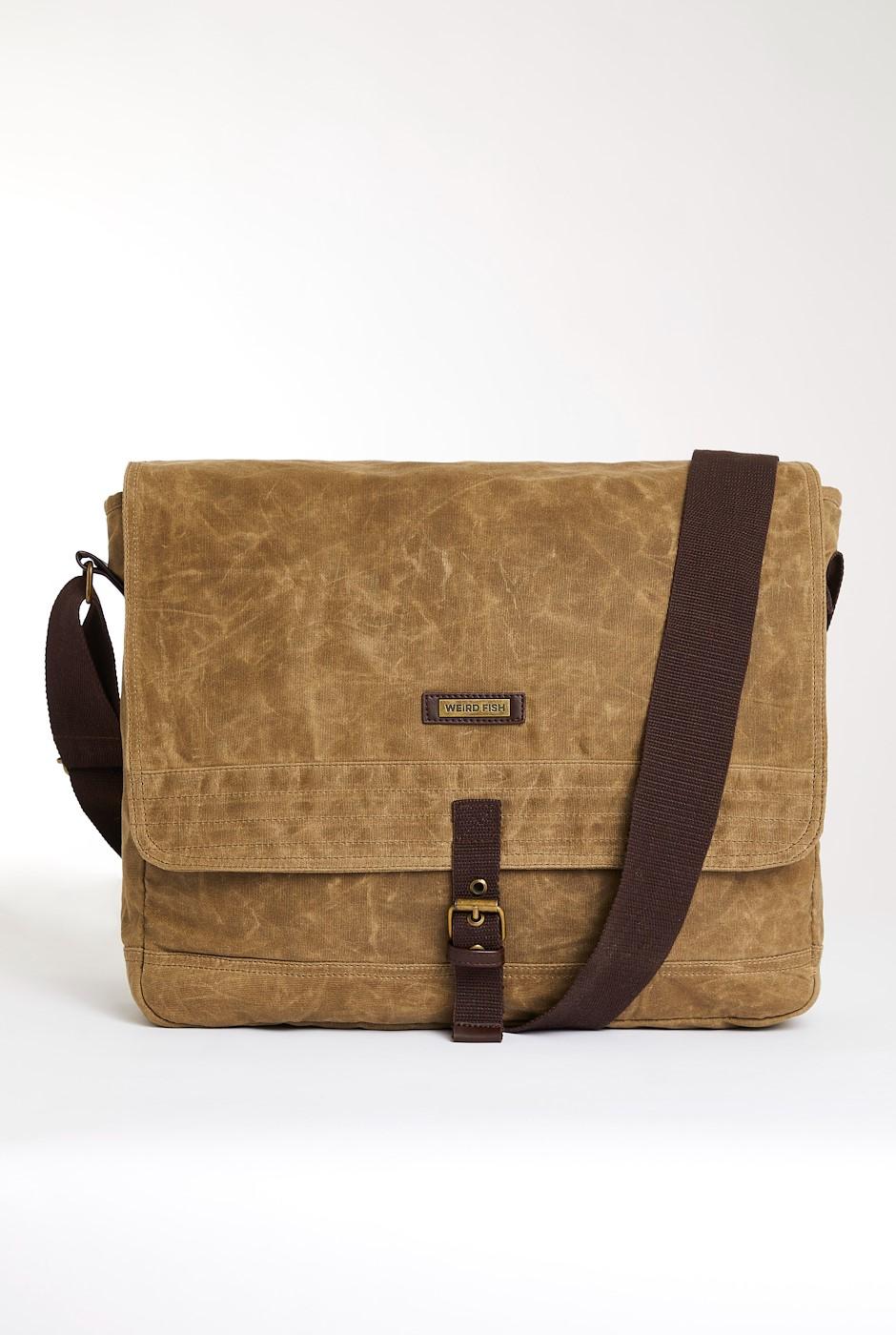Contrail Waxed Messenger Bag Bark