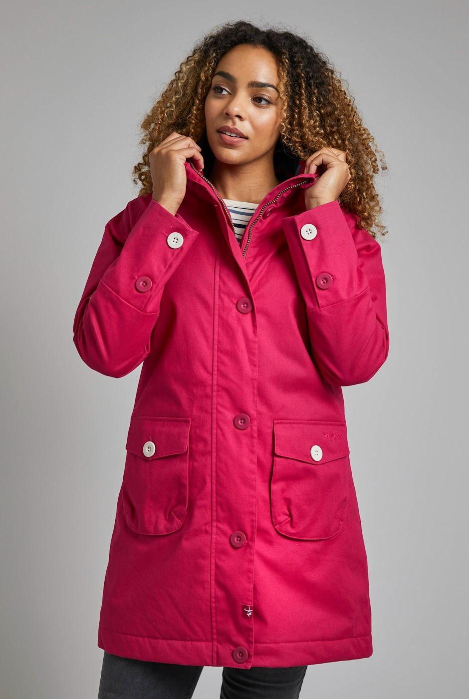 Beatrix Wadded Waterproof Coat Cranberry