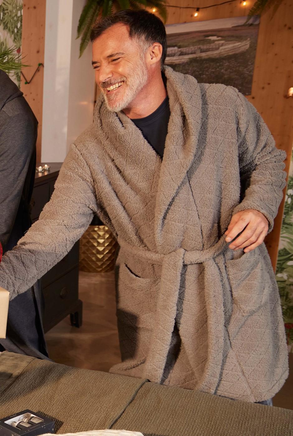 Lambton Borg Dressing Gown  Frost Grey