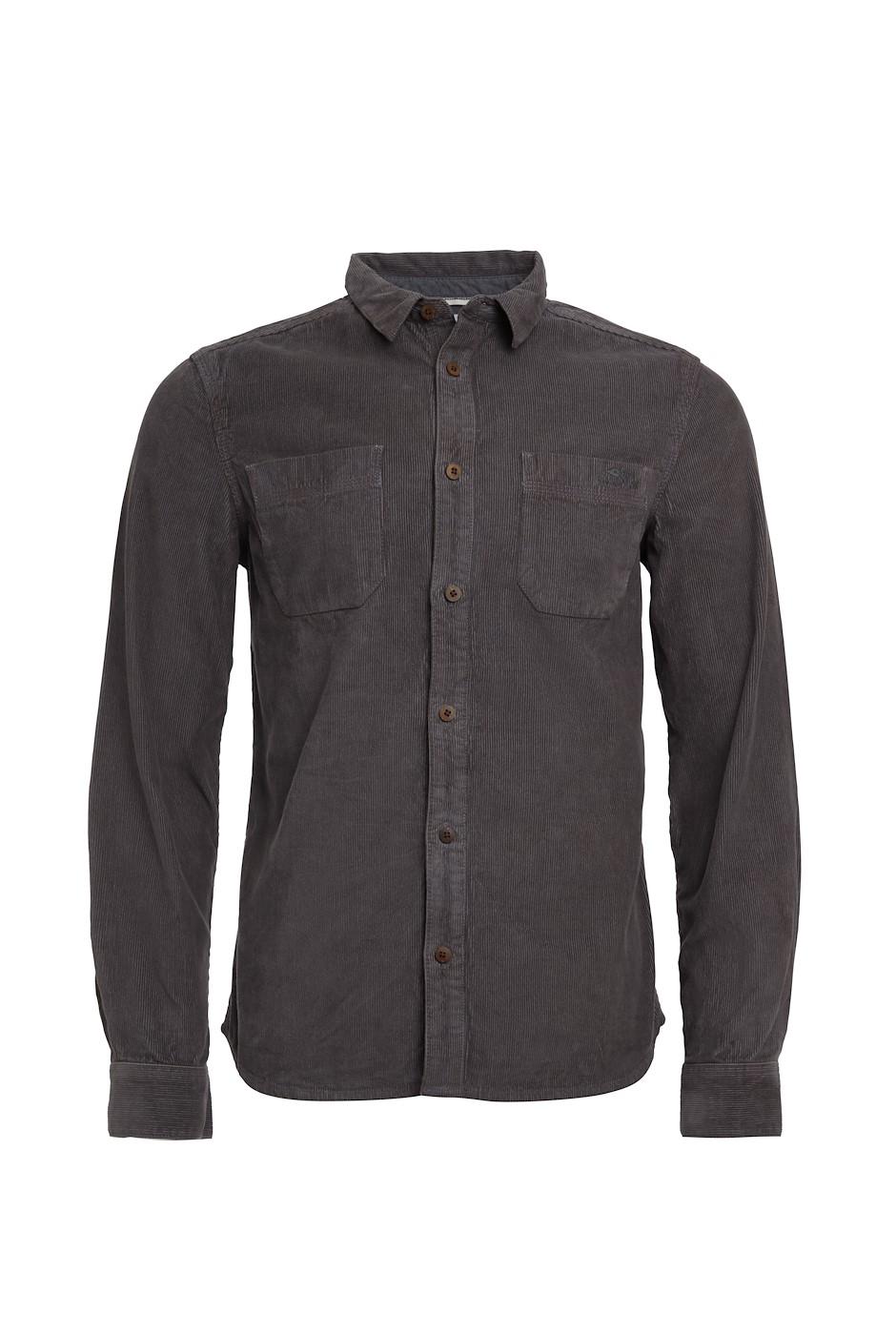 Leonard Long Sleeve Cord Shirt Coal