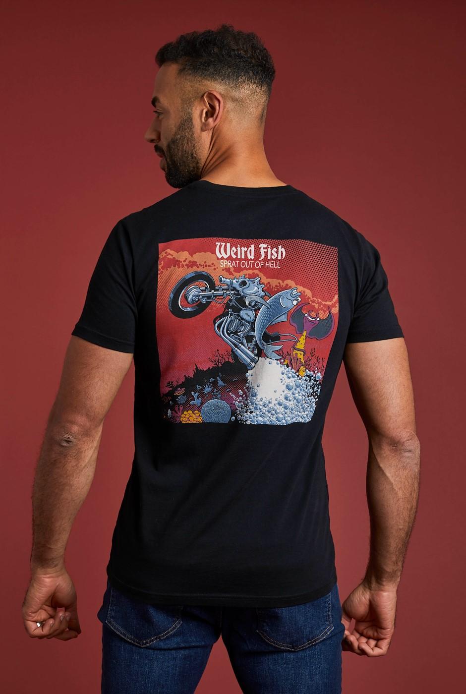 Sprat Out Organic Cotton Artist T-Shirt Black