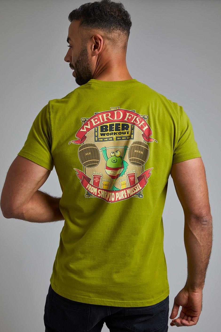 Weird Workout Organic Cotton Artist T-Shirt Woodbine