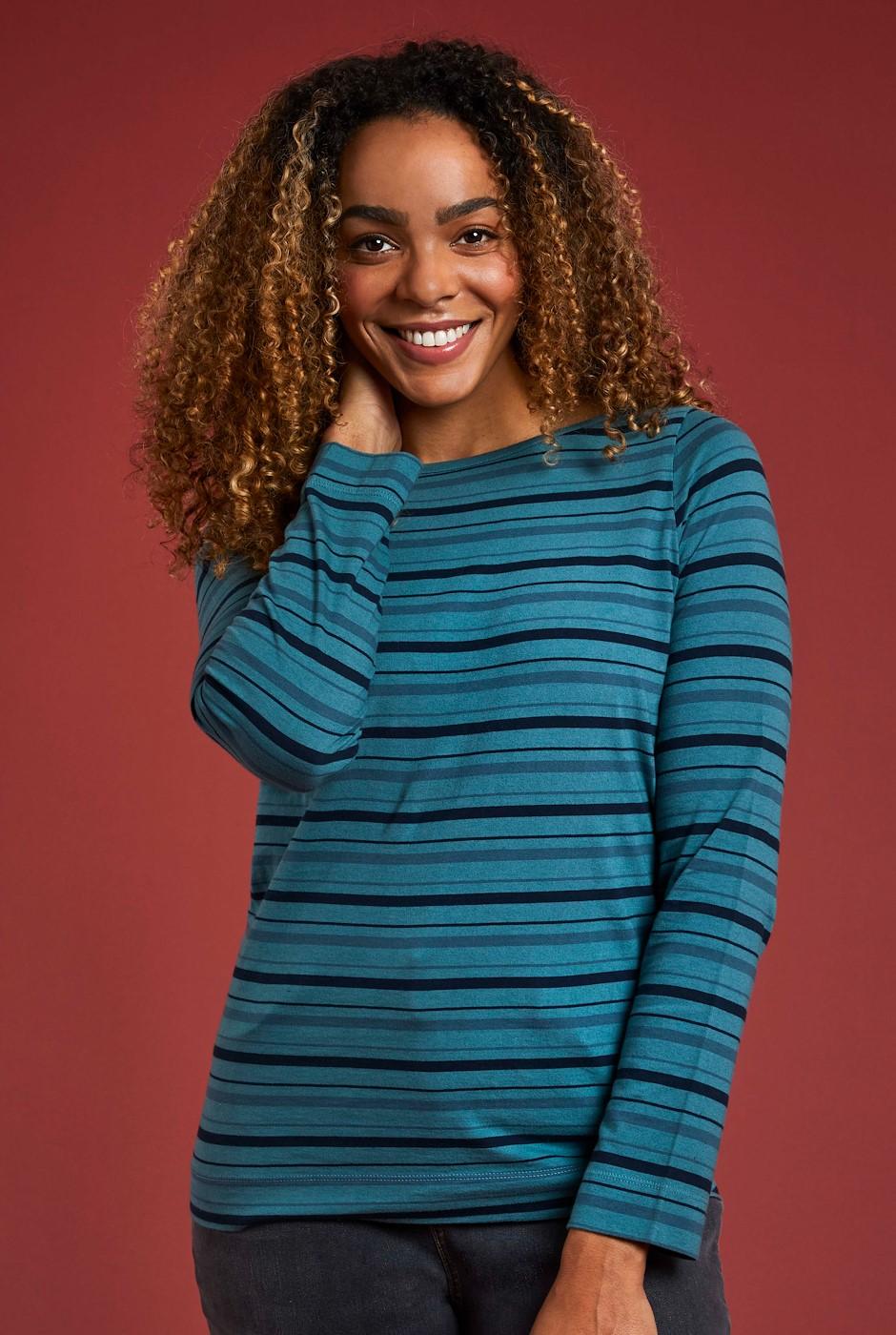 Laurel Eco Long Sleeve T-Shirt Petrol Blue