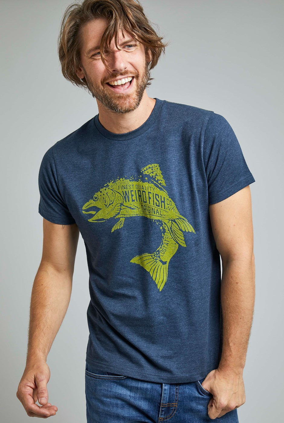 Hooked Eco Branded T-Shirt Navy
