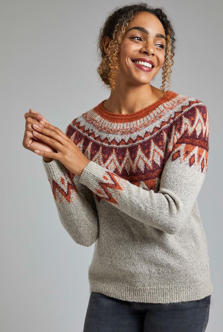 Liza FairIsle Knit Jumper Chalk