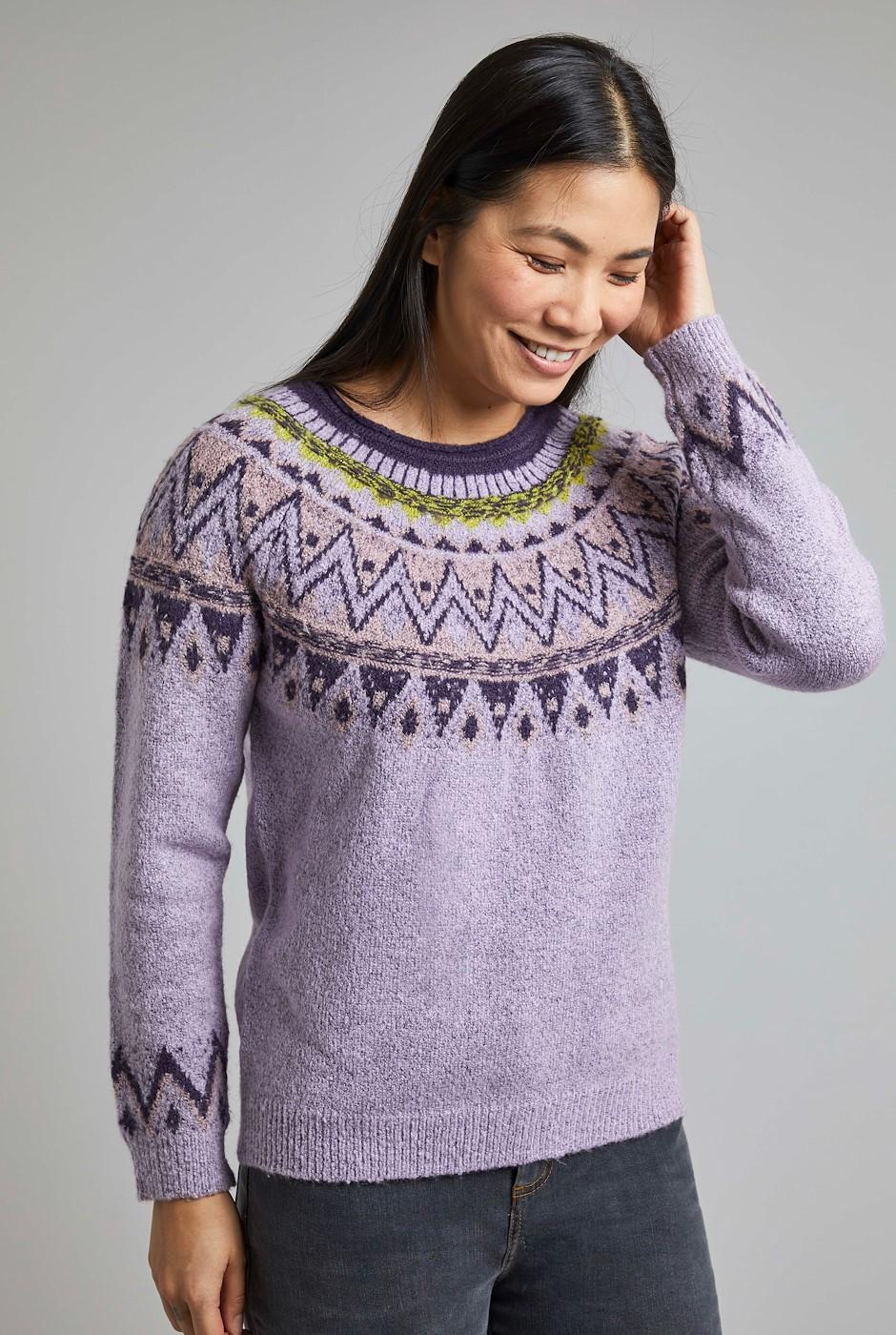 Liza FairIsle Knit Jumper Pale Mauve