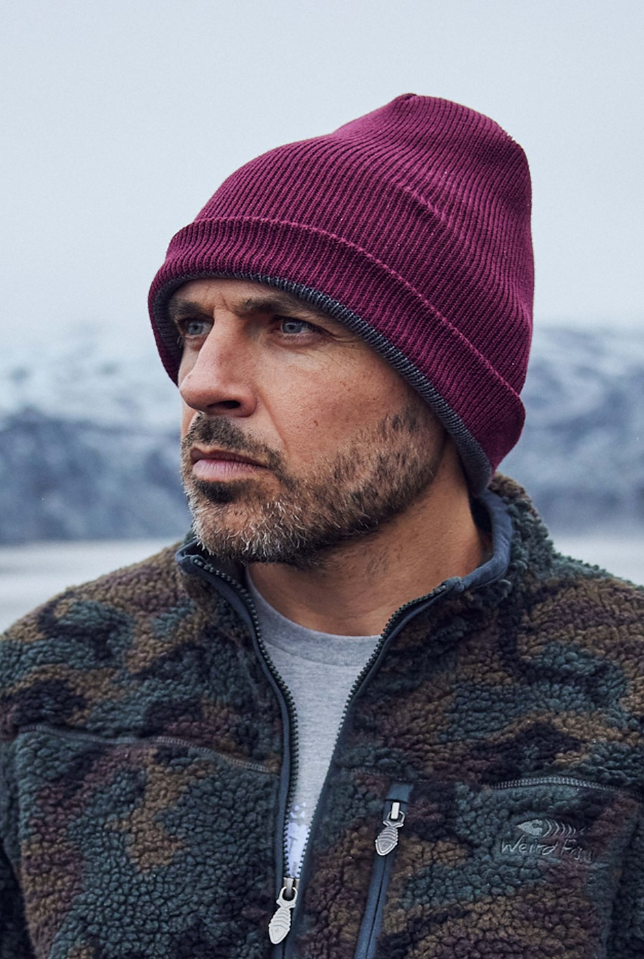 Brolin Recycled Reversible Beanie Antique Cherry