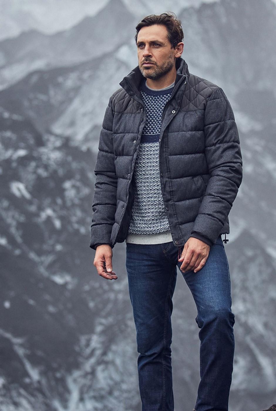 Bryson Melange Puffa Jacket Charcoal